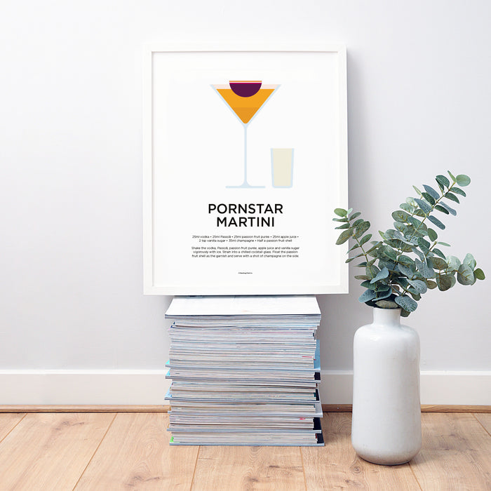 Pornstar Martini cocktail wall art