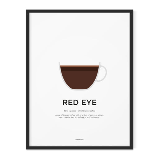 Red Eye coffee art print
