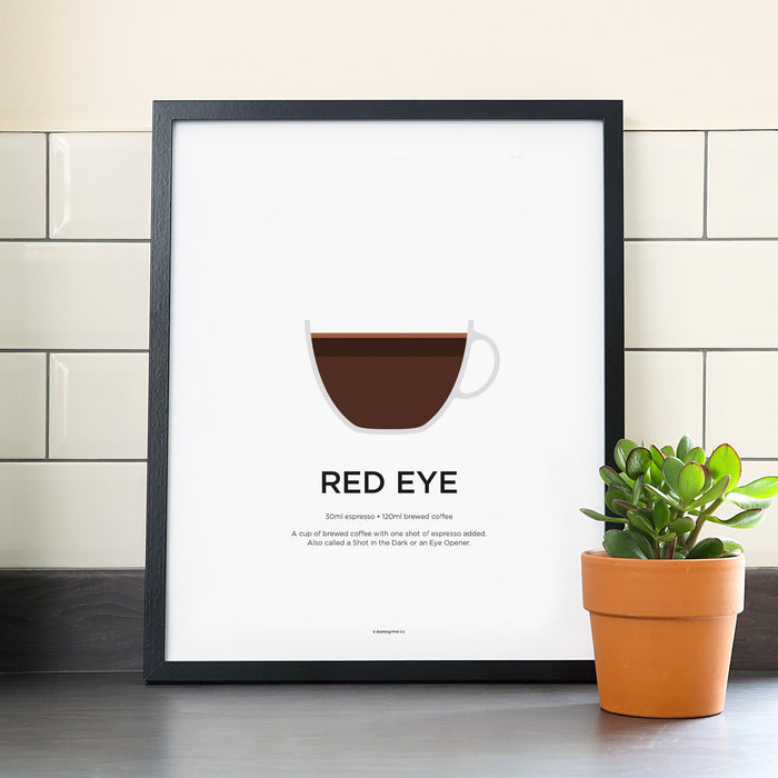 Red Eye coffee poster