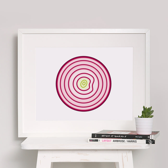 Red Onion Art Print
