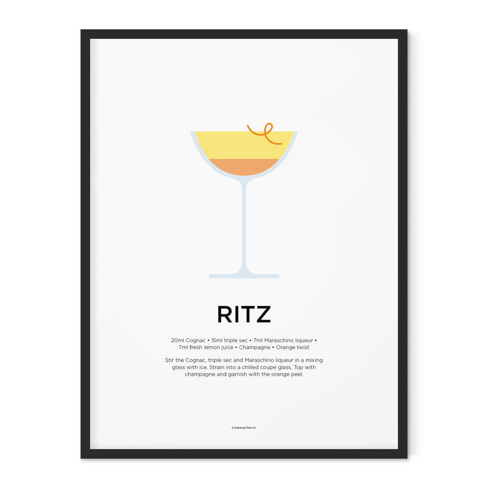 Ritz cocktail art print