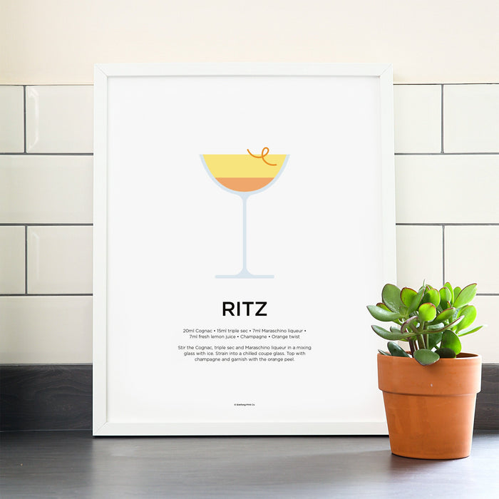 Ritz cocktail poster