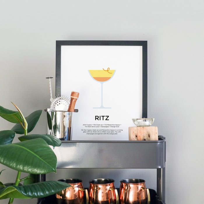 Ritz cocktail print