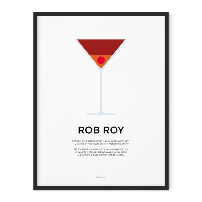 Rob Roy cocktail art print