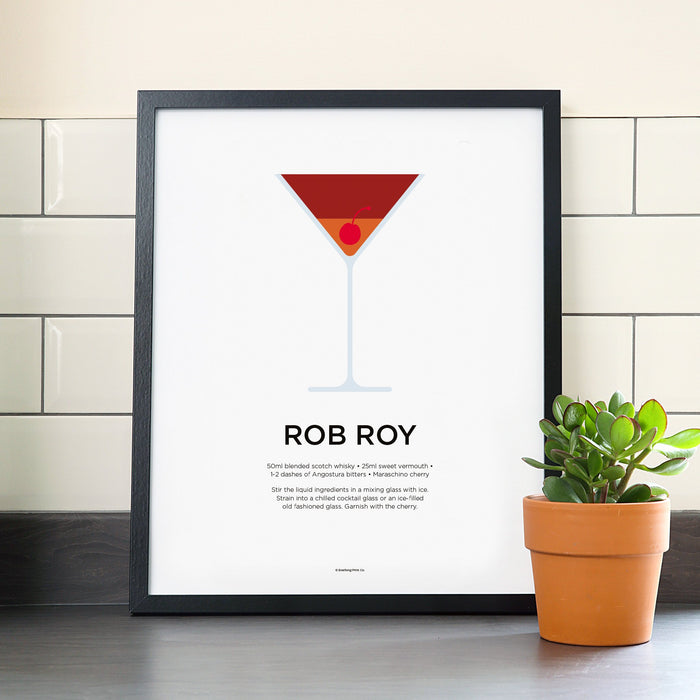 Roy Roy cocktail poster