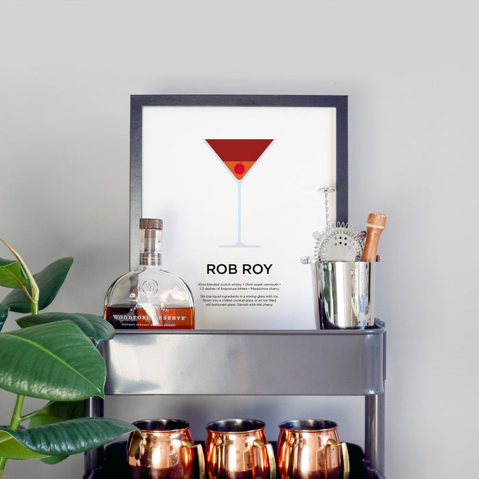 Rob Roy cocktail print
