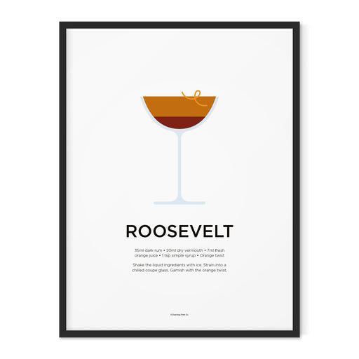 Roosevelt cocktail art print