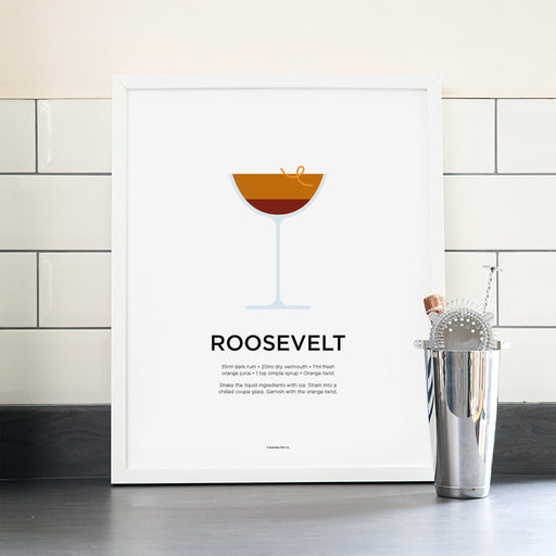 Roosevelt cocktail poster