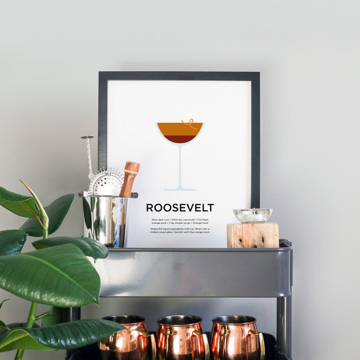Roosevelt cocktail print