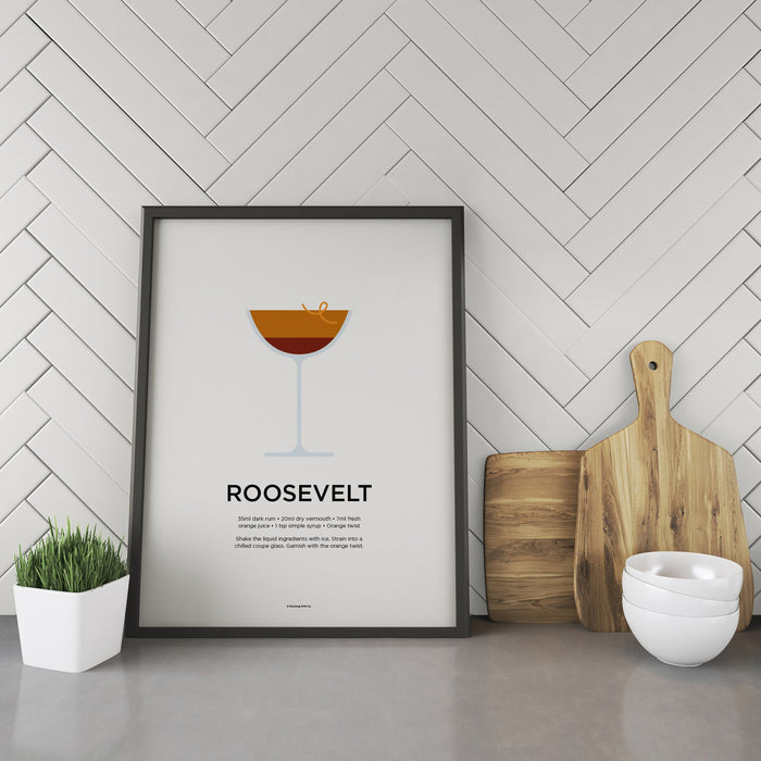 Roosevelt cocktail recipe print