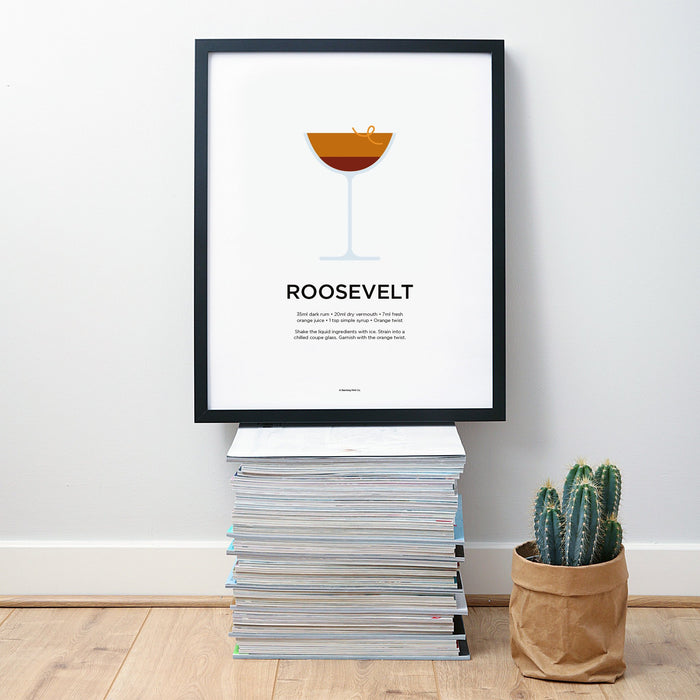 Roosevelt cocktail wall art