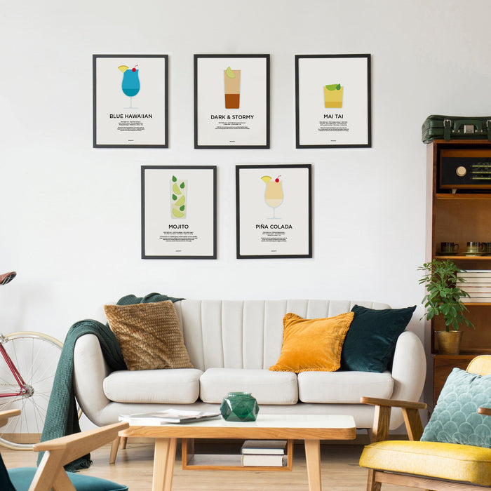 Rum cocktail prints
