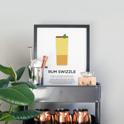 Rum Swizzle cocktail print