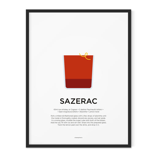 Sazerac cocktail art print