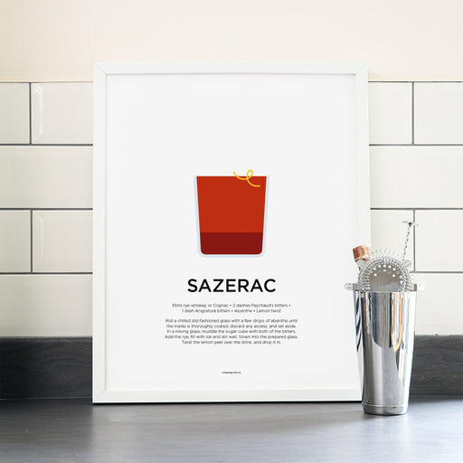 Sazerac cocktail poster