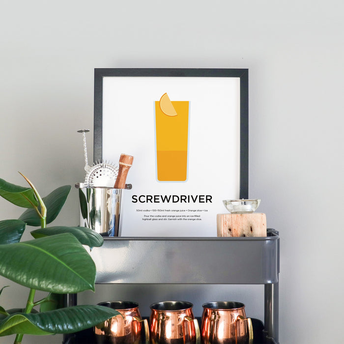 Screwdriver cocktail print