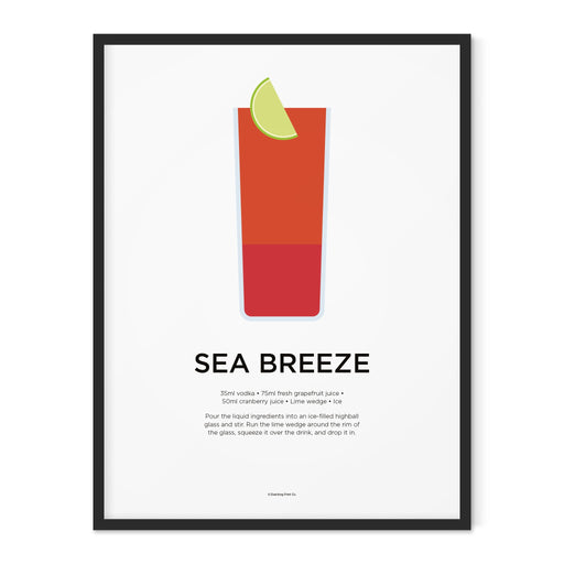 Sea Breeze cocktail art print