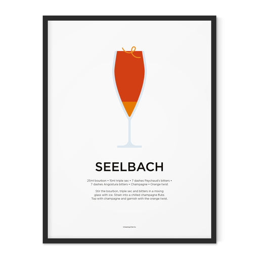 Seelbach cocktail art print