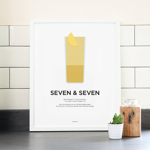 Seven and Seven cocktail poster