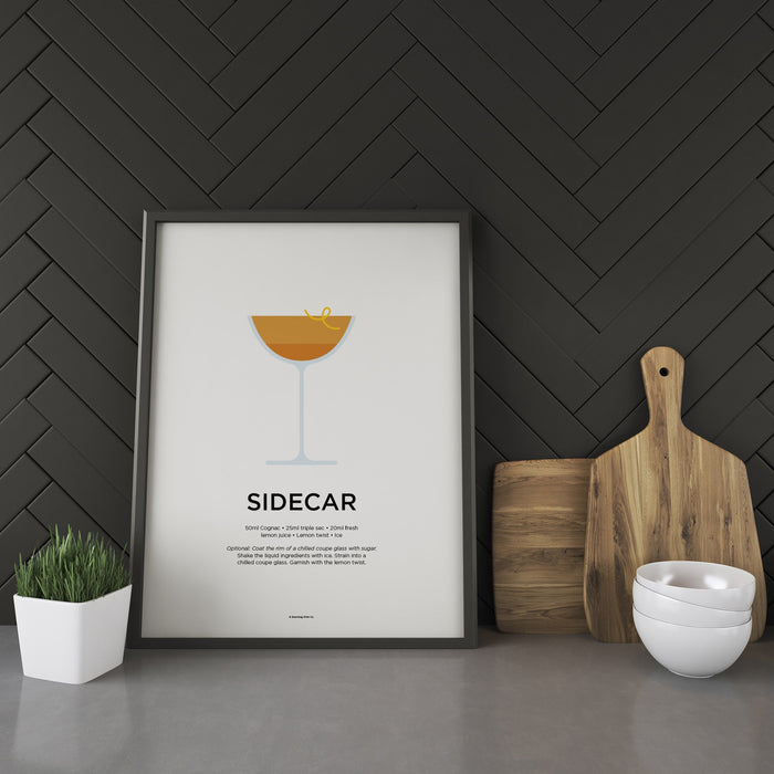 Sidecar cocktail recipe print