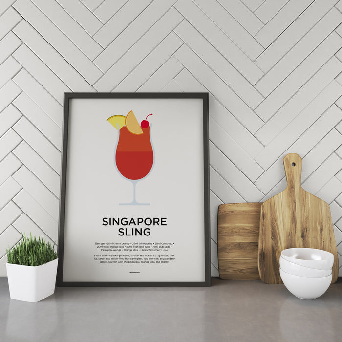 Singapore Sling cocktail recipe print