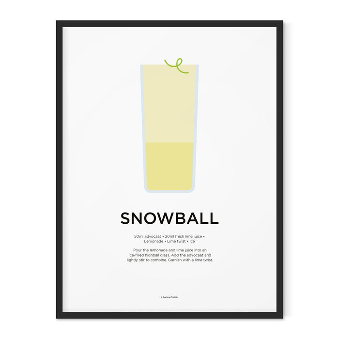 Snowball cocktail art print