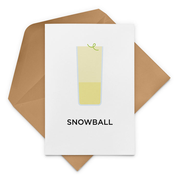 Snowball Cocktail Greeting Card