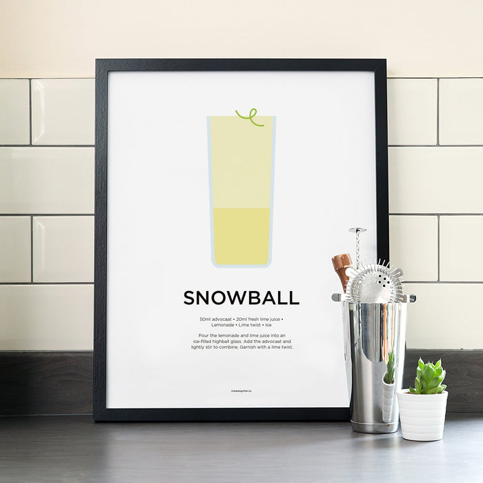 Snowball cocktail poster