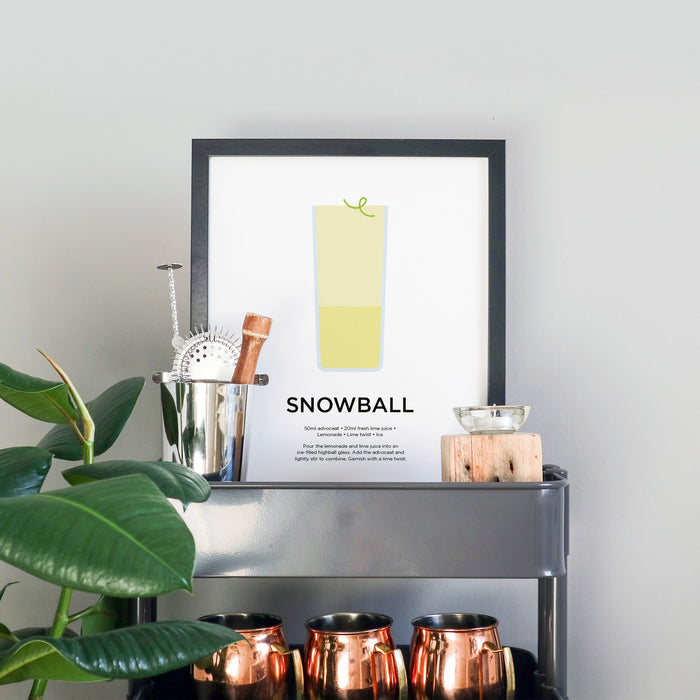 Snowball cocktail print