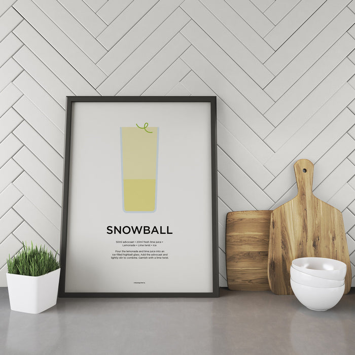 Snowball cocktail recipe print