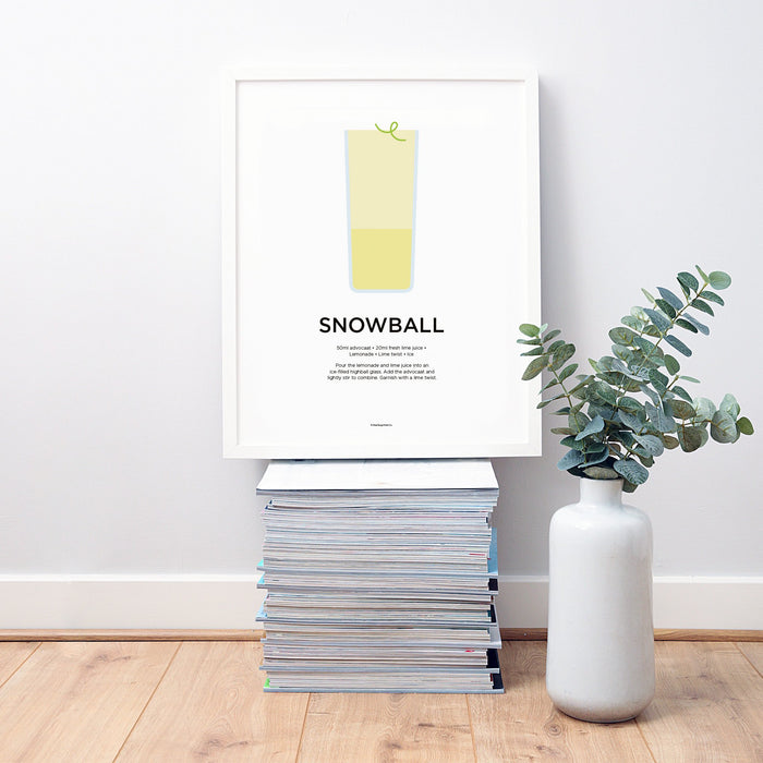 Snowball cocktail wall art