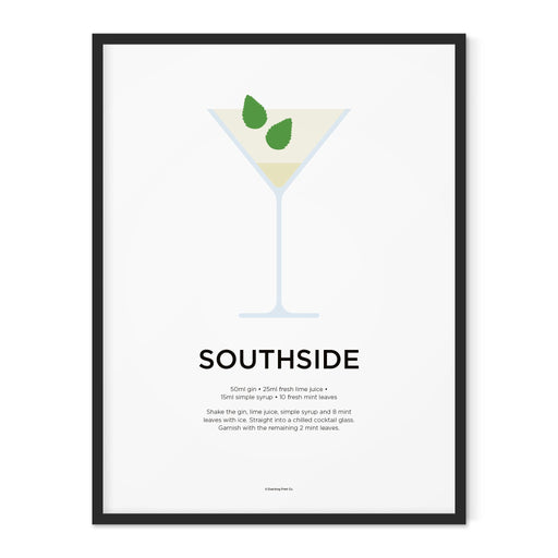 Southside cocktail art print