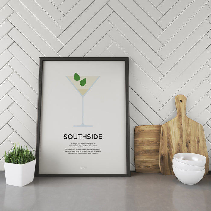 Southside cocktail recipe print