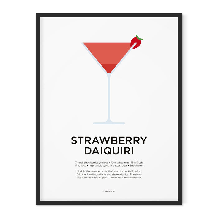 Strawberry Daiquiri cocktail art print