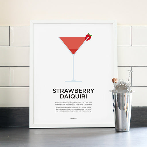 Strawberry Daiquiri cocktail poster