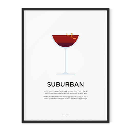 Suburban cocktail art print