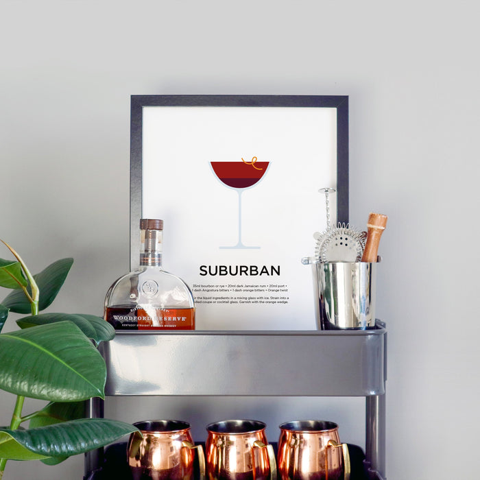 Suburban cocktail print