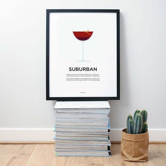 Suburban cocktail wall art