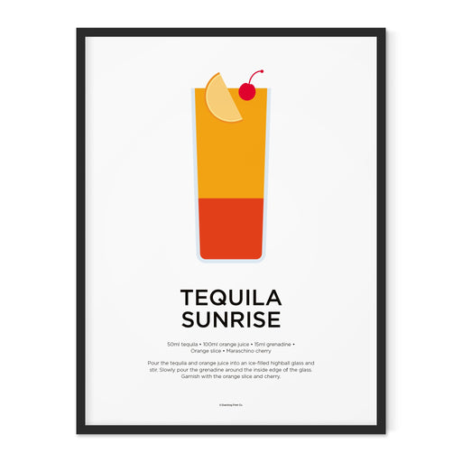 Tequila Sunrise cocktail art print