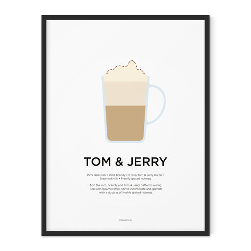 Tom and Jerry cocktail art print