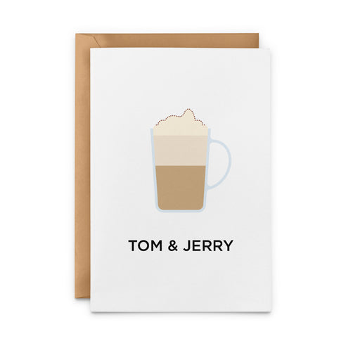 Tom and Jerry Cocktail Greeting Card