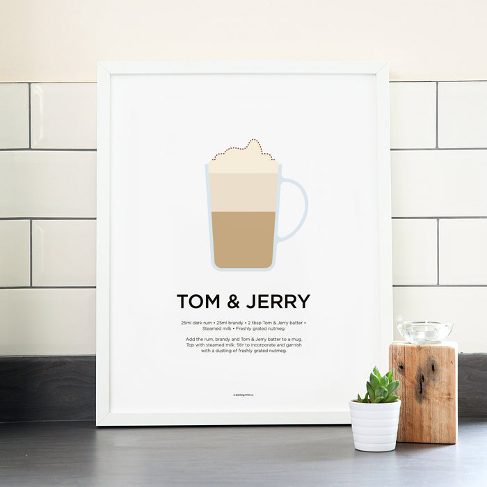 Tom and Jerry cocktail poster