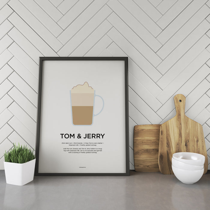 Tom and Jerry cocktail recipe print