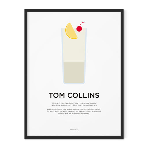 Tom Collins cocktail art print