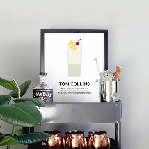 Tom Collins cocktail print