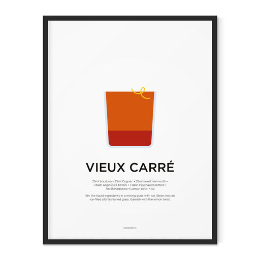 Vieux Carré cocktail art print