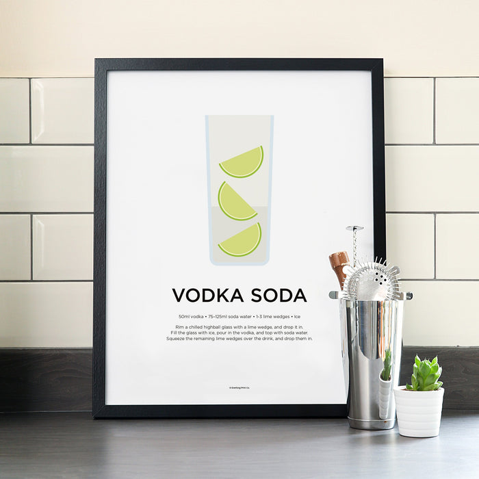 Vodka cocktail poster