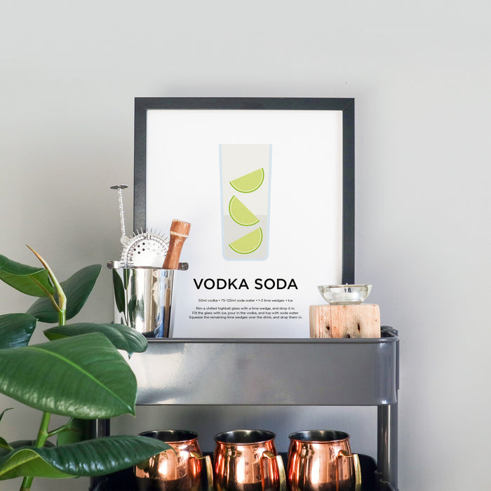 Vodka Soda cocktail print