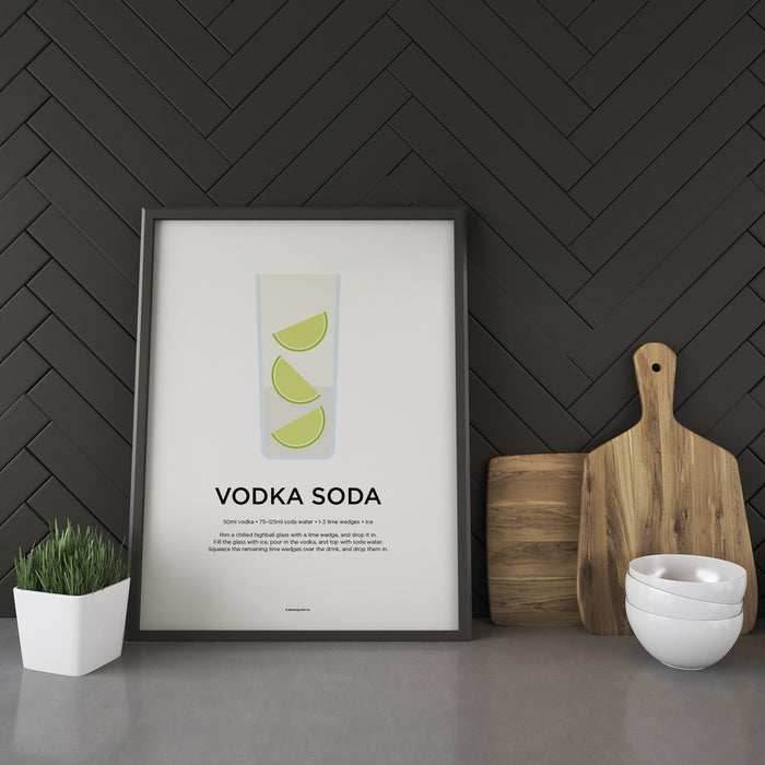 Vodka Soda cocktail recipe print