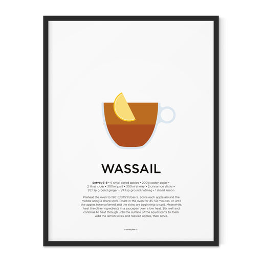 Wassail cocktail art print